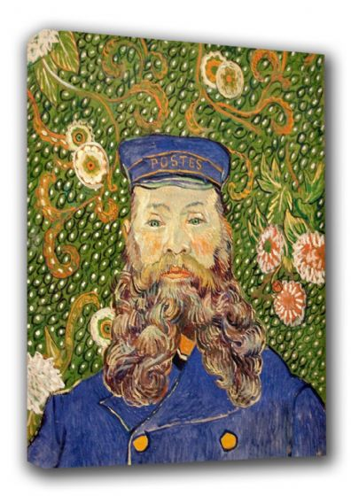 Van Gogh, Vincent: Portrait of the Postman Joseph Roulin, 1889. Fine Art Canvas. Sizes: A3/A2/A1 (0089)